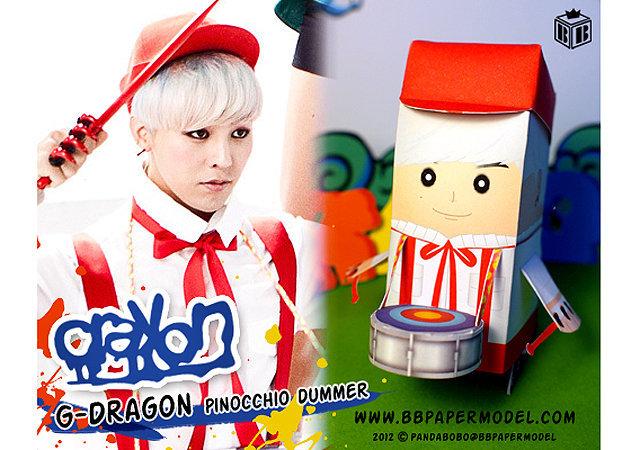 bigbang-GDragon-Pinocchio-drummer -kit168.com