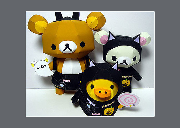 black-cat-black-bat-rilakkuma -kit168.com