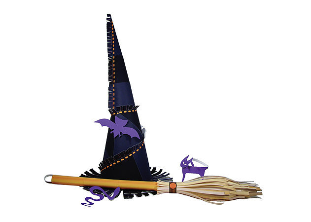 witch-hat-and-broom -kit168.com