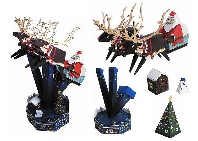 santa-claus-in-his-sleigh -kit168.com