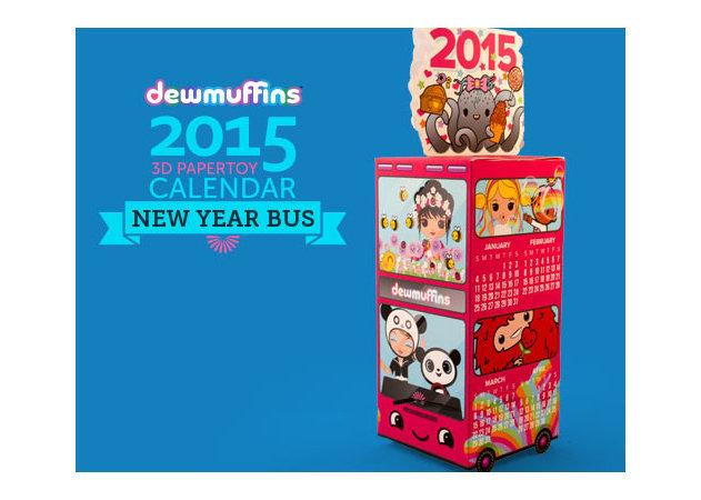 2015-3d-bus-calendar -kit168.com