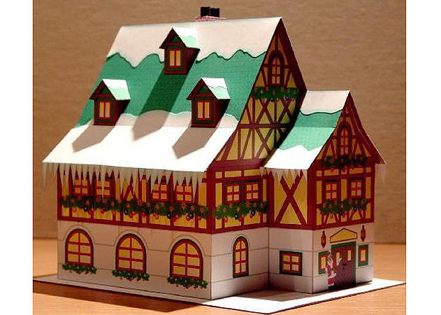 christmas-time-winter-style-house -kit168.com