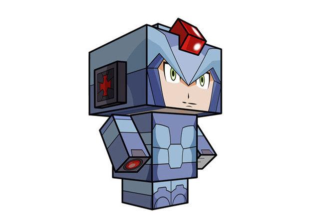 mega-man-x-cube-craft-mega-man -kit168.com