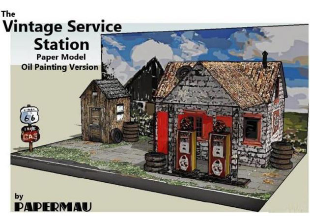 the-vintage-service-station-paper-mode-oil-painting-version -kit168.com