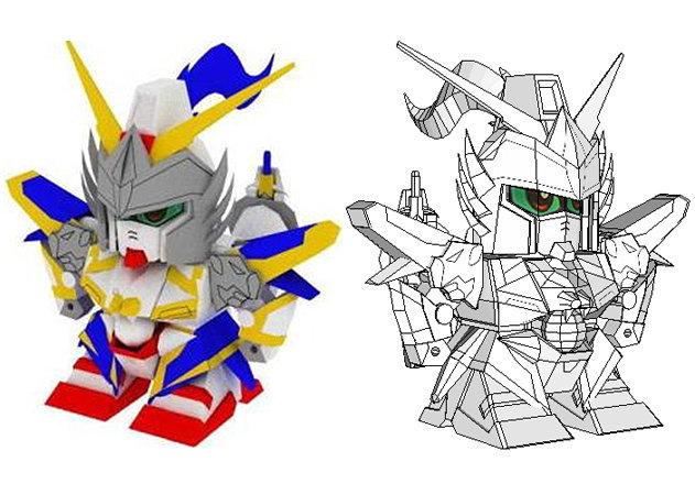 sd-white-dragon-gundam -kit168.com