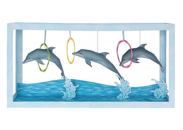 paper-aquarium-dolphin-show -kit168.com