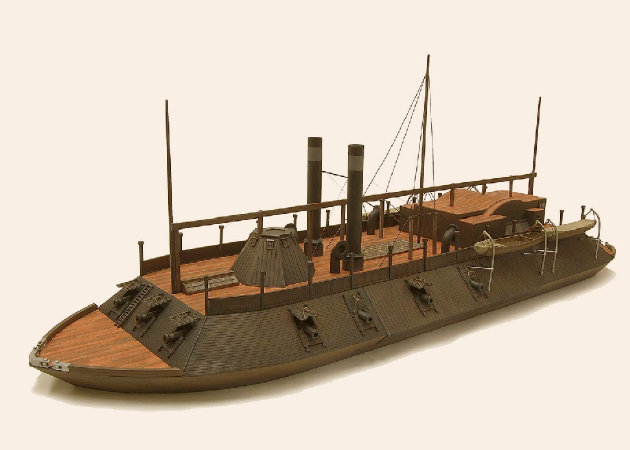 american-civil-war-ironclad-river-gunboat-uss-cairo -kit168.com