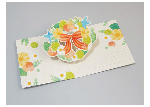 wreath-of-flowers-and-birds-pop-up-card-1 -kit168.com