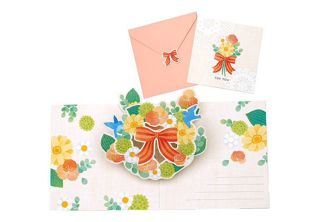 wreath-of-flowers-and-birds-pop-up-card -kit168.com