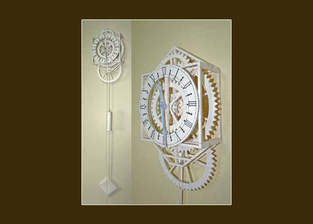 working-japanese-papercraft-clock-1 -kit168.com