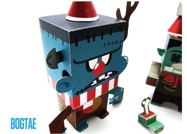 frankenstein-and-zombie-santa-claus-halloween-1 -kit168.com