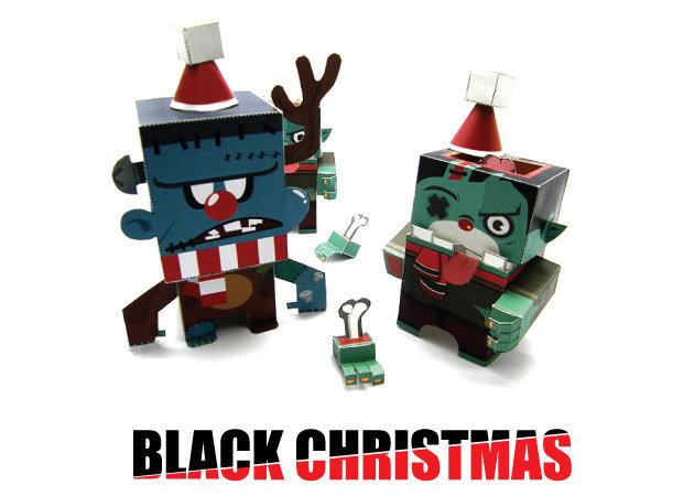 frankenstein-and-zombie-santa-claus-halloween -kit168.com