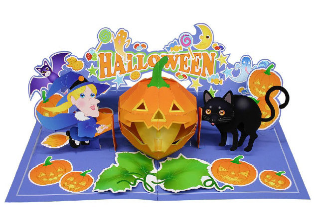 halloween-black-cat-and-witch-pop-up-card-2 -kit168.com