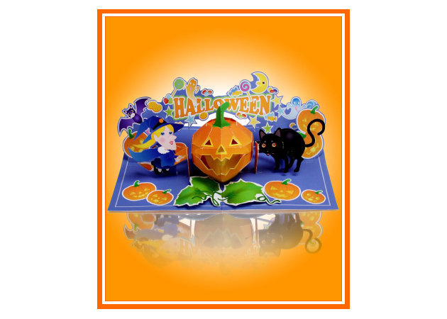 halloween-black-cat-and-witch-pop-up-card -kit168.com