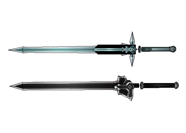 elucidator-and-dark-repulser-swords-sword-art-online
