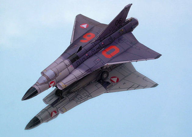 saab-draken-austrian-federal-air-force -kit168.com