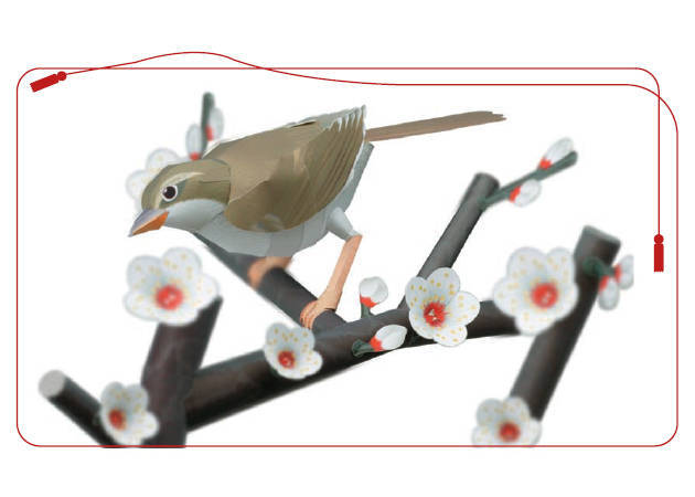 bush-warbler-in-a-branch-of-japanese-plums-diorama-1-kit168-com